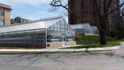 Greenhouses located on the Cornell Ithaca campus