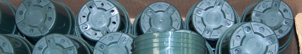 Photo of platic pots that will be recycled after use