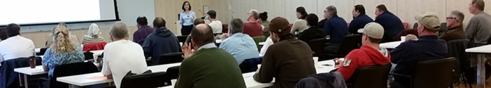 Photo of participants in the CALS OEH fall safety training
