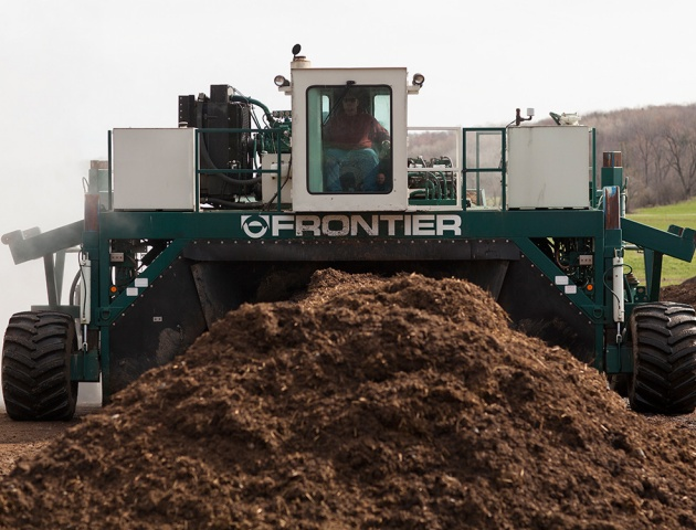 Photo of composting machinery